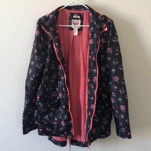 Adorable Mossimo Black & Pink Raincoat Size XL